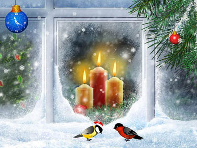 Click to view Christmas Candles Screensaver 1.0 screenshot
