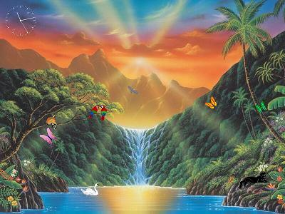 Paradise Falls 3D Screensaver