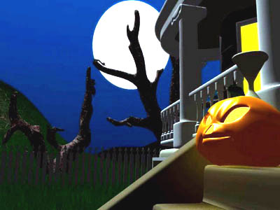 Click to view Dark Halloween Night 3D Screensaver 1.0 screenshot