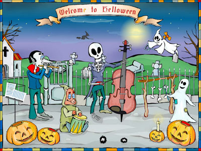 Click to view Welcome To Halloween Screensaver 1.0 screenshot